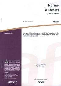 47d0874175d AFNOR - Norme NF ISO 29990 Services de formation dans le cadre de l  éducation