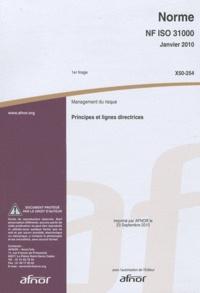 Deedr.fr Norme NF ISO 31000 Management du risque - Principes et lignes directrices Image