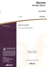 Galabria.be Norme NF ISO 7870-1 cartes de contrôle - Partie 1 : lignes directrices générales Image
