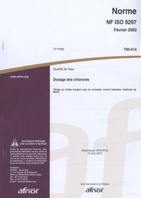 Norme NF ISO 9297 Qualité de leau - Dosage des chlorures - Titrage au nitrate dargent avec du chromate comme indicateur (méthode de Mohr).pdf