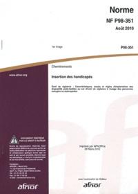 Birrascarampola.it Norme NF P98-351 Cheminements - Insertion des handicapés : Eveil de vigilance Image