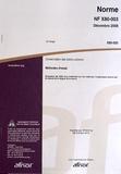 AFNOR - Norme NF X80-003 Conservation des biens culturels - Méthodes d'essai.