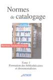 AFNOR - Normes de catalogage - Tome 1, Formation des bibliothécaires et documentalistes.