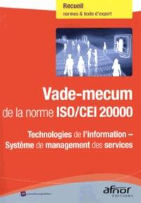 Ucareoutplacement.be Vade-mecum de la norme ISO/CEI 20000 - Technologies de l'information - Système de management des services Image