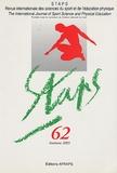 AFRAPS - Staps N° 62, Automne 2003 : .