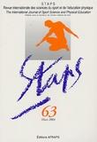 AFRAPS - Staps N° 63, Hiver 2004 : .