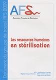 AFS - Les ressources humaines en stérilisation.