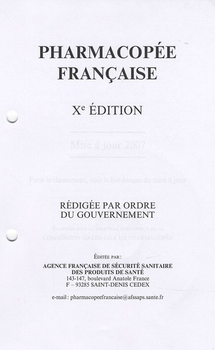 AFSSAPS - Pharmacopée française. 1 Cédérom