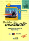 AFT-IFTIM - Guide de capacité professionnelle - Transport public routier des personnes.