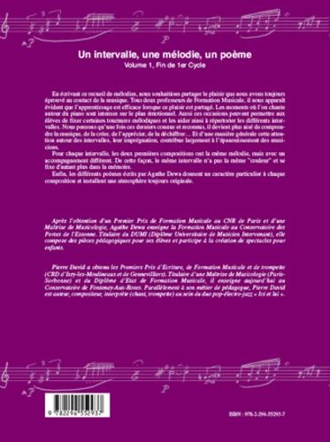 Un intervalle, une mélodie, un poème. Volume 1, Fin de 1er Cycle