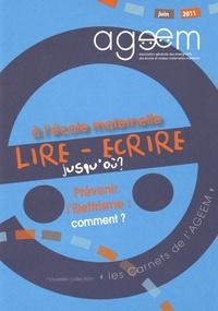 AGEEM - Lire-écrire à l'école maternelle.