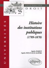 Accentsonline.fr Histoire des institutions publiques (1789-1870) Image