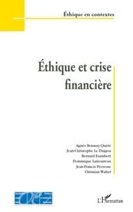 Agnès Bénassy-Quéré et Jean-Christophe Le Duigou - Ethique et crise financière.