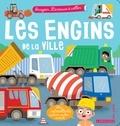Agnès Besson et Benjamin Bécue - Les engins de la ville - Imagier Larousse à coller.