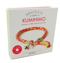 Accentsonline.fr Bracelets Kumihino - Techniques, modèles, disque & accessoires. Avec 1 disque en carton, 20m de fils de coton multicolores, 1 fermoir mousqueton Image