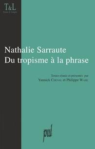 Agnès Fontvieille-Cordani et Philippe Wahl - Nathalie Sarraute du tropisme à la phrase.