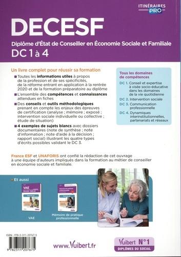 DECESF DC 1 à 4. Diplôme d'Etat de Conseiller en économie sociale familiale 4e édition