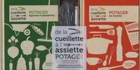 Agnès Guillaumin et Stéphan Lagorce - De la cueillette à l'assiette - Coffret potager avec 1 guide du potager et 1 livre de recettes.
