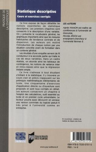 Agnès Hamon et Nicolas Jégou - Statistique descriptive.