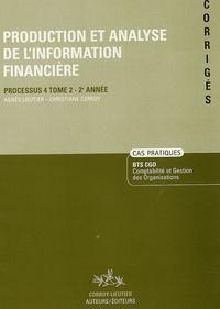 Production et analyse de linformation financière Processus 4 Tome 2 - 2e Année - Corrigés.pdf