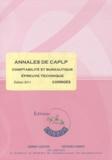 Agnès Lieutier et Christiane Corroy - Annales de CAPLP comptabilité et bureautique épreuve technique - Corrigés.