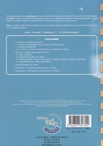 Comptabilité approfondie UE 10 du DCG. Enoncé  Edition 2018-2019