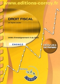 Droit fiscal UE 4 du DCG- Enoncé - Agnès Lieutier |