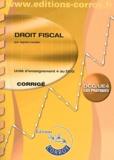 Agnès Lieutier - Droit fiscal UE 4 du DCG - Corrigé.