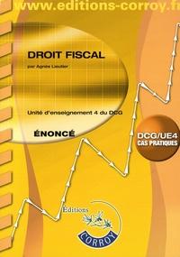 Agnès Lieutier - Droit fiscal UE 4 du DCG - Enoncé.