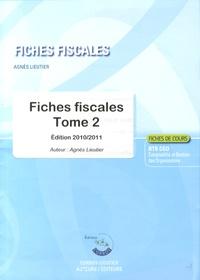 Fiches fiscales BTS CGO- Tome 2 - Agnès Lieutier |