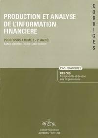 Production et analyse de linformation financière, BTS CGO - Cas pratiques corrigés, processus 4, tome 2, 2ème année.pdf