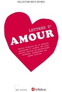 Agnès Pierron - DES LETTRES  : Lettres d'amour - ePub 2.