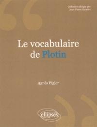 Agnès Pigler - Le vocabulaire de Plotin.