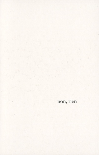 Non, rien