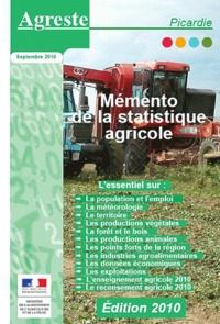 Agreste - Mémento de la statitique agricole - Picardie.