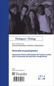 Ahmed Boubeker et Markus Ottersbach - Diversité et participation - Approches franco-allemandes de l'action sociale pour la jeunesse des quartiers marginalisés.
