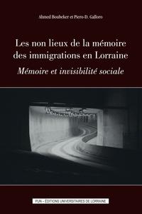 Ahmed Boubeker et Piero Galloro - Les non lieux de la mémoire des immigrations en Lorraine - Mémoire et invisibilité sociale.