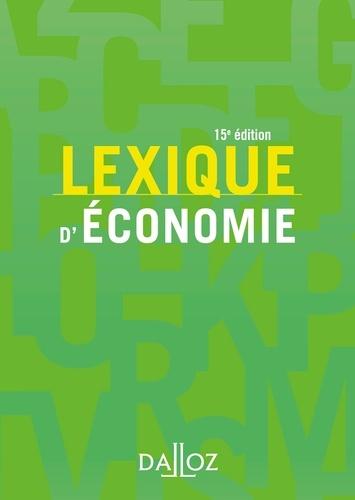Lexique d'économie  Edition 2018