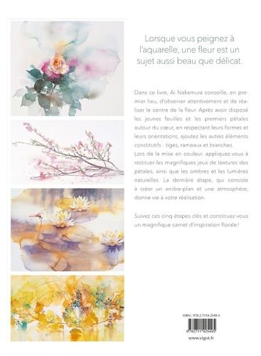 Jolies fleurs à l'aquarelle. En 5 étapes simples