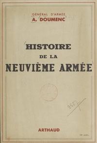 Aimé Doumenc - Histoire de la neuvième armée.