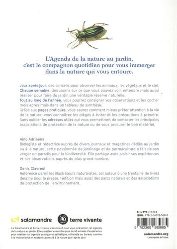 Agenda de la nature au jardin  Edition 2021