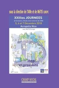 AIRe et  MèTIS Europe - DITEP et proximité - La distance : un enjeu territorial, interpersonnel... XIIIe Journées d'étude, de recherche et de formation de l'AIRe.
