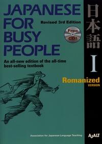 AJALT - Japanese for Busy People I - Romanized Version. 1 CD audio