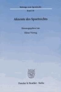 Akzente des Sportrechts.