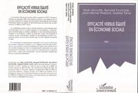 Alain Alcouffe - Efficacité versus équité en économie sociale.