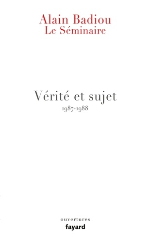 Le Séminaire - Alain Badiou - Format ePub - 9782213703725 - 14,99 €