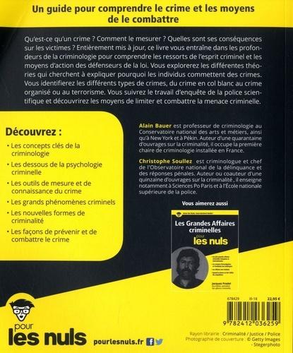 La criminologie pour les nuls 2e édition