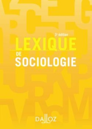 Alain Beitone et Yves Alpe - Lexique de sociologie.