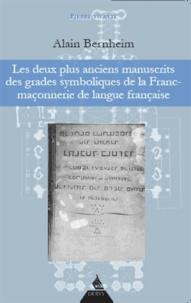 Birrascarampola.it Les deux plus anciens manuscrits des grades symboliques de la Franc-maçonnerie de langue française Image