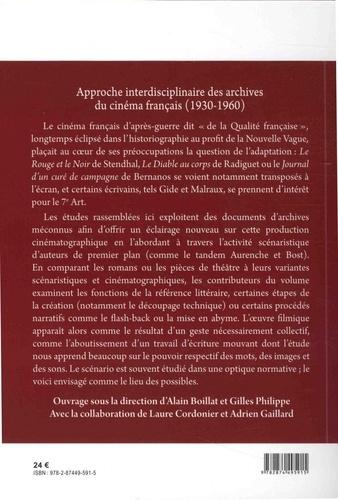 L'adaptation : des livres aux scénarios. Approche interdisciplinaire des archives du cinéma français (1930-1960)